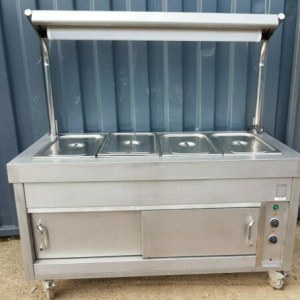 VICTOR HOT CUPBOARD WITH DRY WELL BAIN MARIE AND HEATED GANTRY